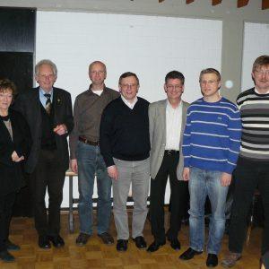 Der in der Jahreshauptversammlung 2010 ergänzte Vorstand der Sozialdemokraten vom Möhnesee