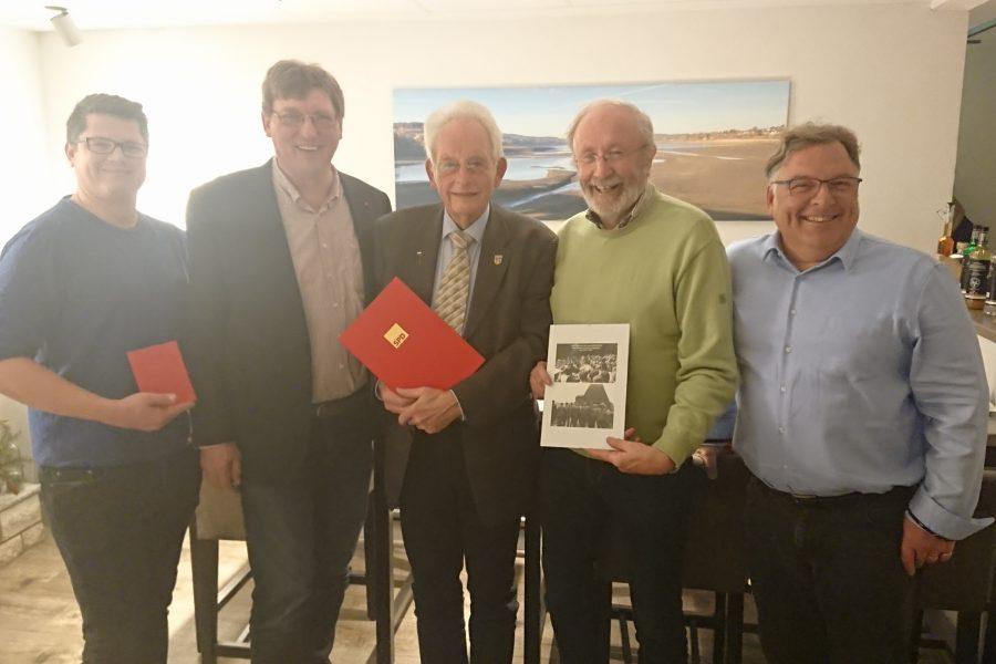 Moritz Schmitt, Harald Beckers, Karl-Heinz Wilmes, Wilfied Jäger und Christian Klespe